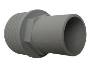 "28mm GREY PUSH FIT WASTE FEMALE FITTING x 1 1/4"" BSP male"